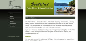 Picton Clinker Boat Club - Website Design